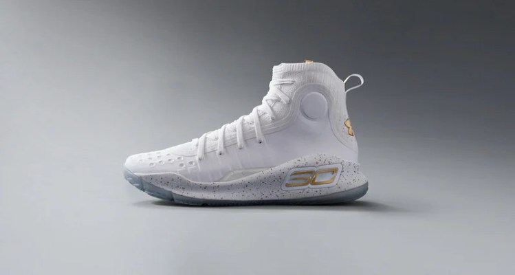 Under Armour Curry 4 White/Gold