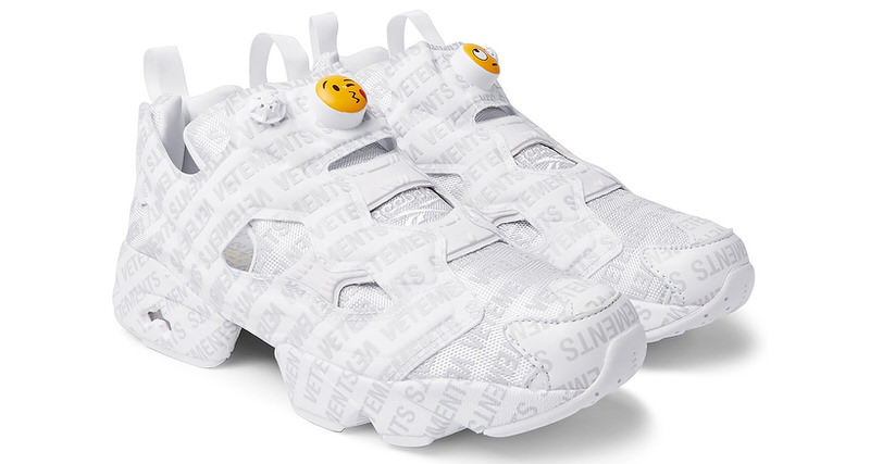 X Reebok Emoji Instapump Fury Sneakers VETEMENTS