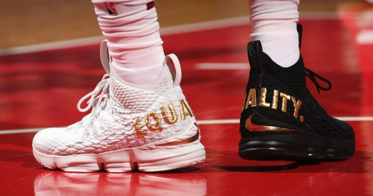 "f9e2671d8dbb4 King James Dons Black   White ""Equality"" Nike LeBron 15 PEs in Nation s  Capital"
