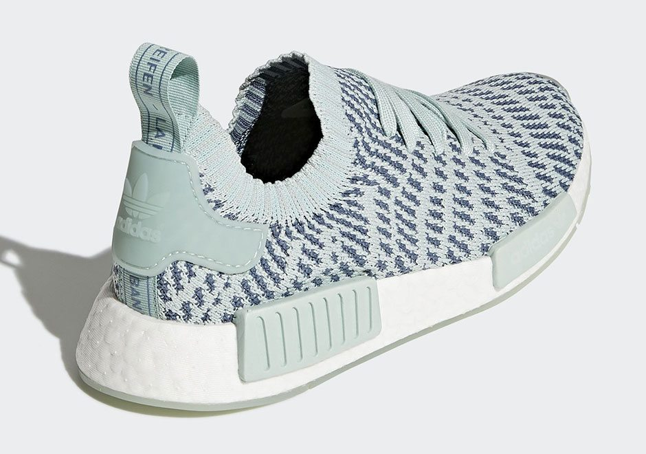 NEW ADIDAS NMD R1 W RUNNER BLACK ICEY BLUE RUNNING