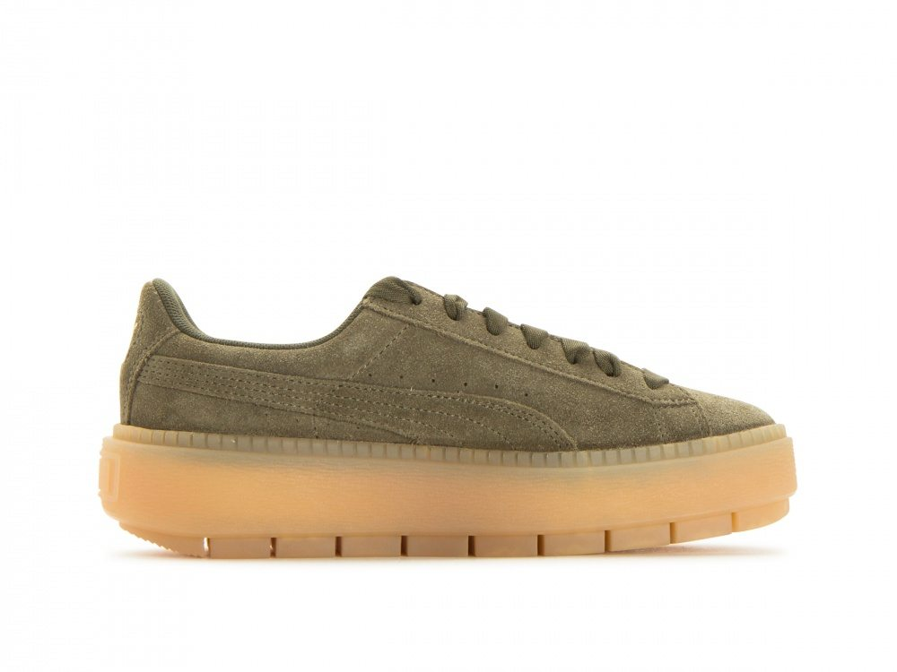 puma womens platform trace olive night available now nice kicks. Black Bedroom Furniture Sets. Home Design Ideas