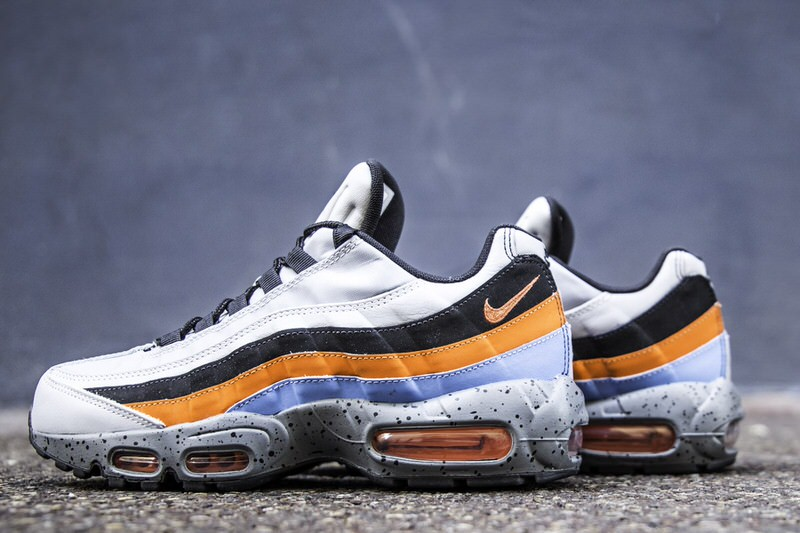 new product 15831 7705f ... norway nike air max 95 premium wolf grey safety orange 83cb9 d424a