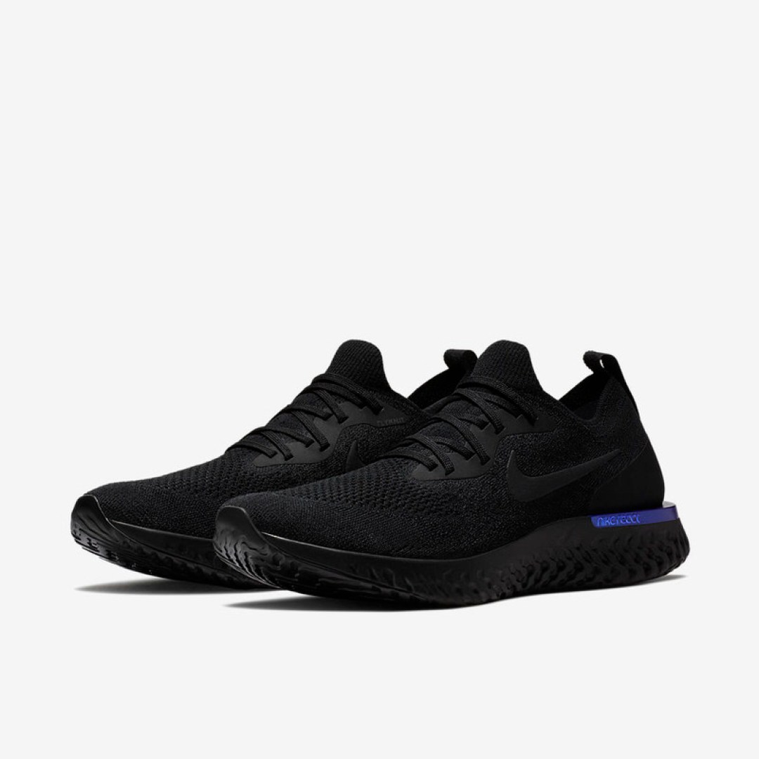Nike Epic React Flyknit Black/Racer Blue