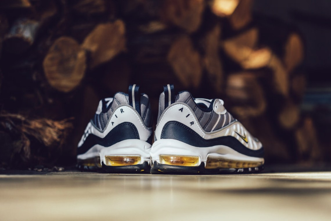 c4cae903201da9 Nike Air Max 98 White Tour Yellow-Midnight Navy    Release Date ...