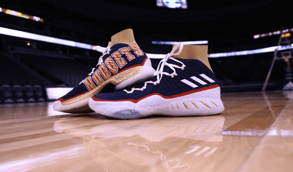 promo code b6063 f9208 Peep photos of Murrays 90s Nuggets-themed adidas Crazy Explosive below.