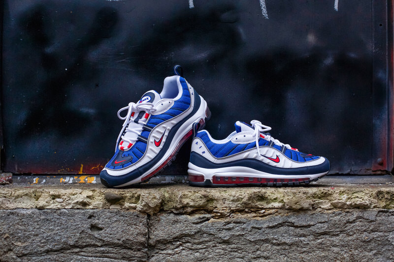 nike air max 98 red white and blue
