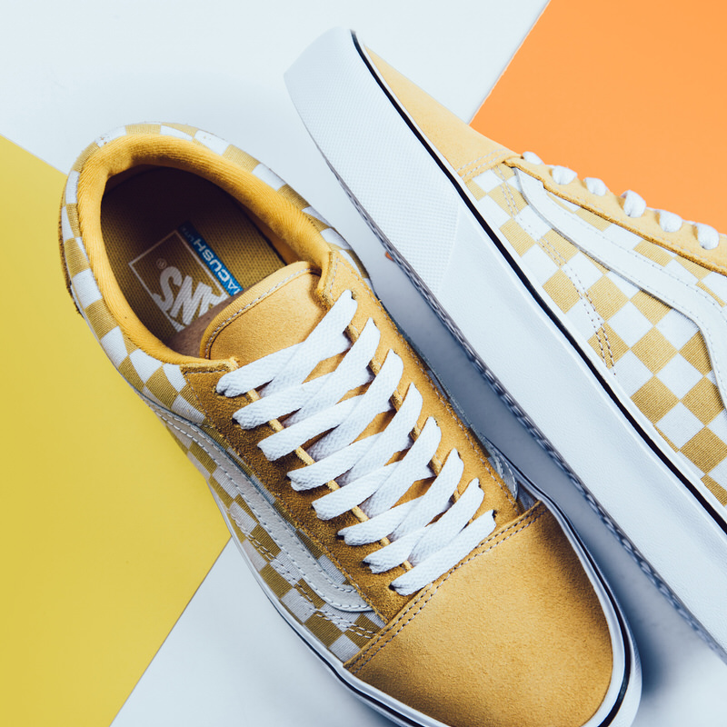 ochre vans old skool checkerboard