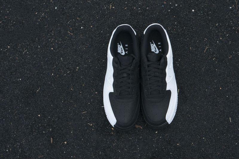 nike air force 1 low split black white