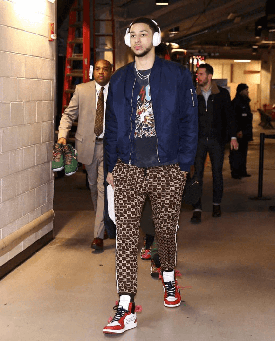 Ben Simmons in the Off-White x Air Jordan 1