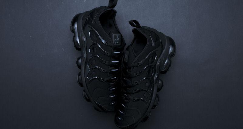 "reputable site dbb2f 2c7ed Nike Air VaporMax Plus ""Triple Black""    Another Look   Nice Kicks"