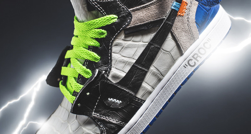 """e20e123ded5 The Shoe Surgeon Merges OFF-WHITE and Fragment 1s on New """"Croc"""" Custom"""
