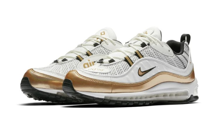 Nike Air Max 98 UK White/Gold