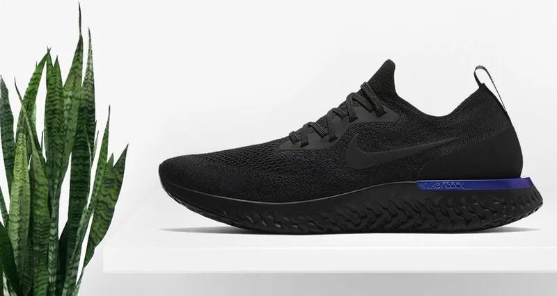 71bce08e27b8 Nike Epic React Flyknit Black Racer Blue Release Date