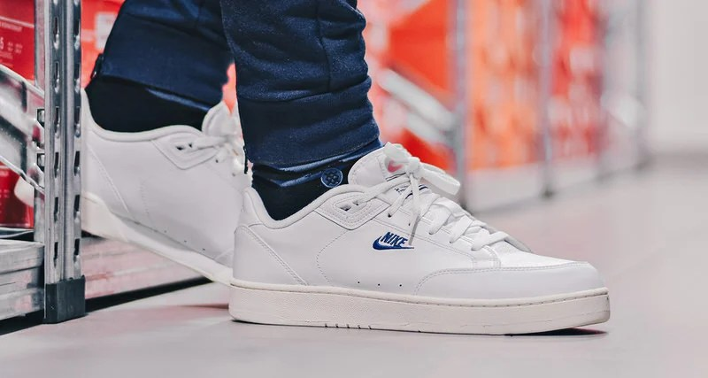 154c325a Nike Grandstand II White/Navy Available Now | Nice Kicks