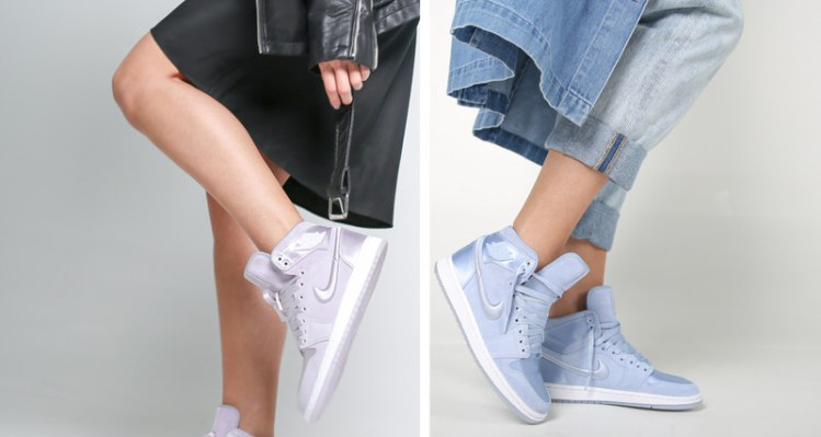 brand new b0cca 8ffbe Switch The Style Up  How To Wear The Satin Air Jordan 1 SOH Pastel Pack For  Women