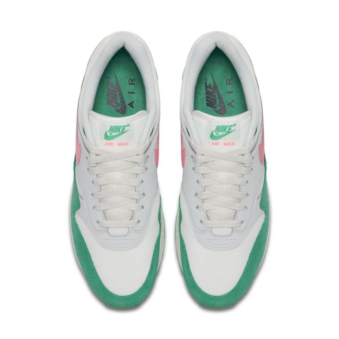 Nike Air Max 1 Pink Green Spring 2018  575cbd9d52
