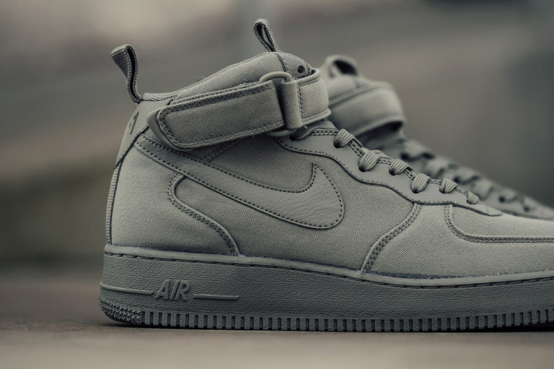 "premium selection 0bef0 c16a7 Nike Air Force 1 Mid 07 Canvas ""Dark Stucco"" ..."
