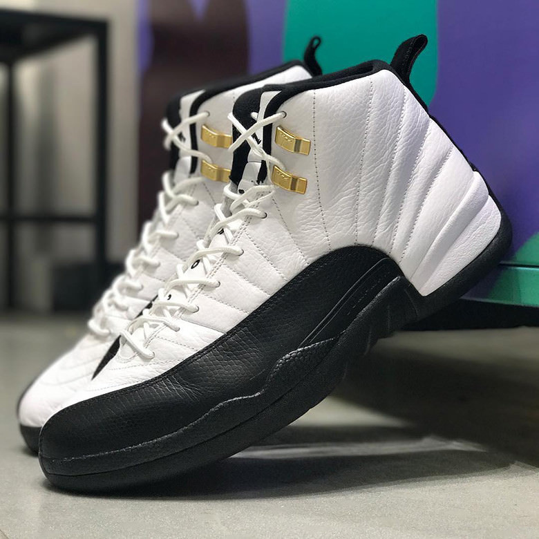 newest 94659 f22ff ... colorway white black taxi style 130690 125. price 190. air jordan 12