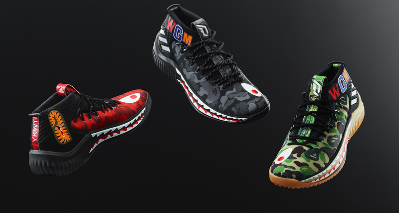 3b5937dbc8e61f BAPE x adidas Dame 4 Releasing in Three Colorways During All-Star Weekend