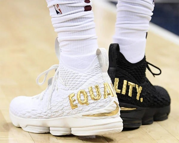 "free shipping 30f31 9b77b The Nike LeBron 15 ""Equality"" speaks to all of the above. The shoe is now  available via a unique drawing with 200 pairs of each black and white  colorway ..."