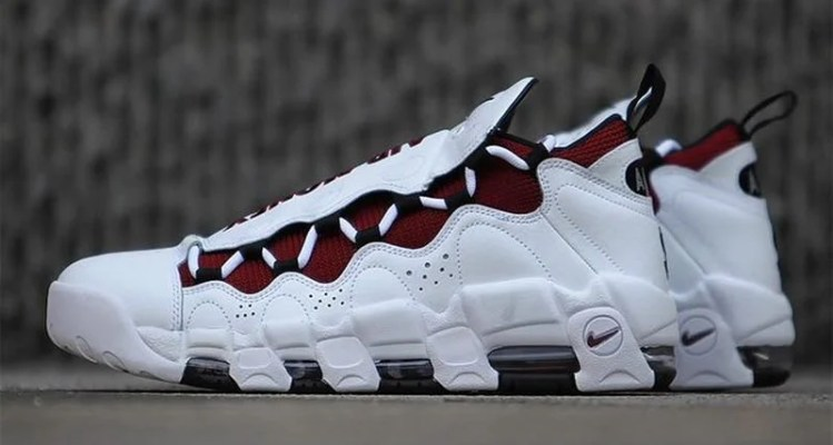 Nike Air More Money White/Burgundy
