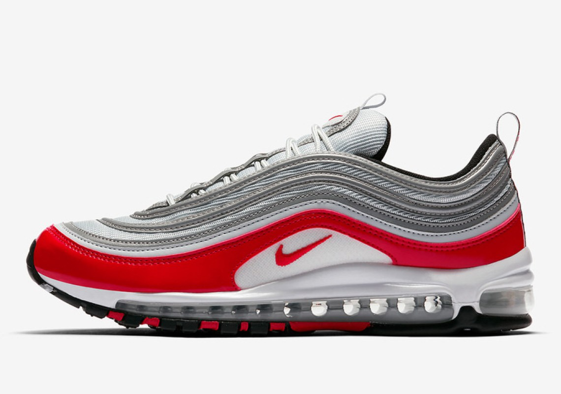 Nike Air Max 97 Grey/Varsity Red