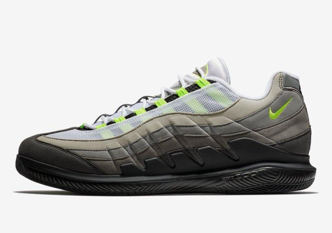 """NikeCourt Vapor RF x Air Max 95 """"Neon"""""""