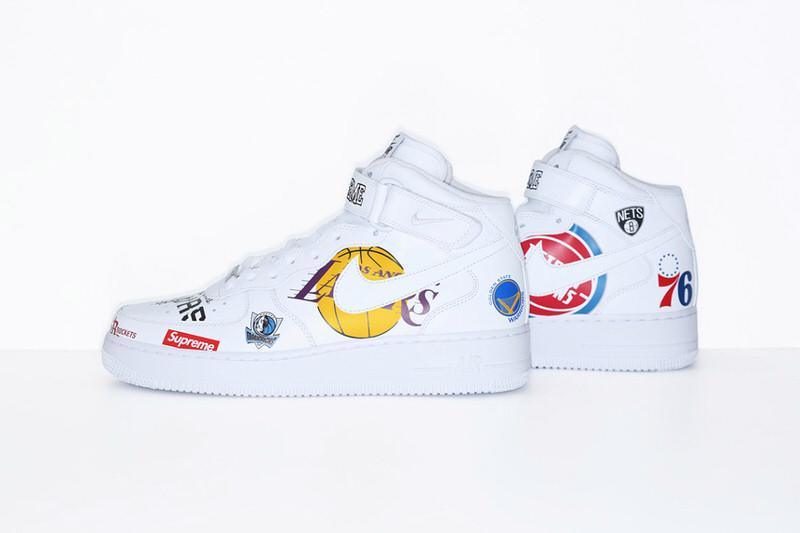 ... Supreme x NBA x Nike Air Force 1 Mid Pack