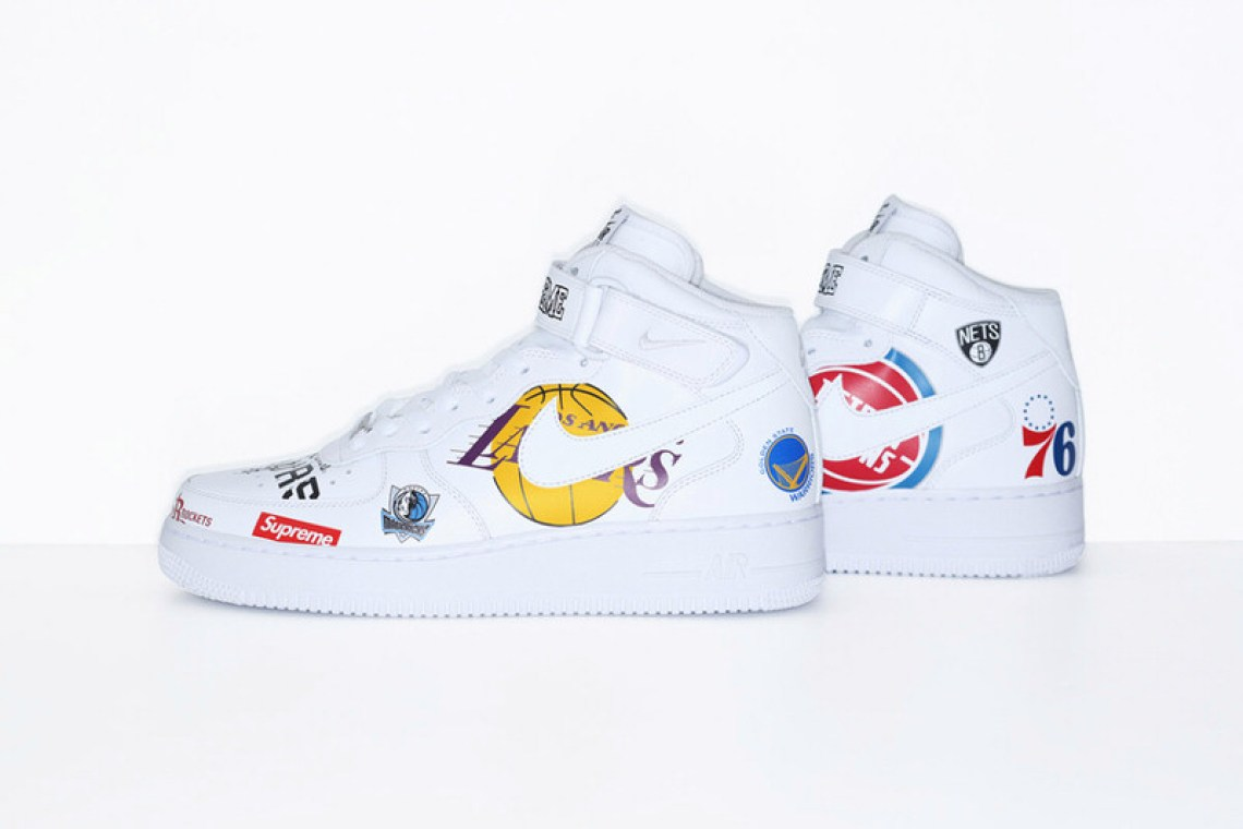 Supreme x NBA x Nike Air Force 1 Mid Pack