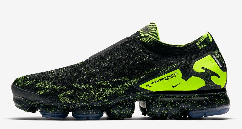 8a2a2c5618 ACRONYM x Nike Air VaporMax Moc Black/Volt Release Date   Nice Kicks