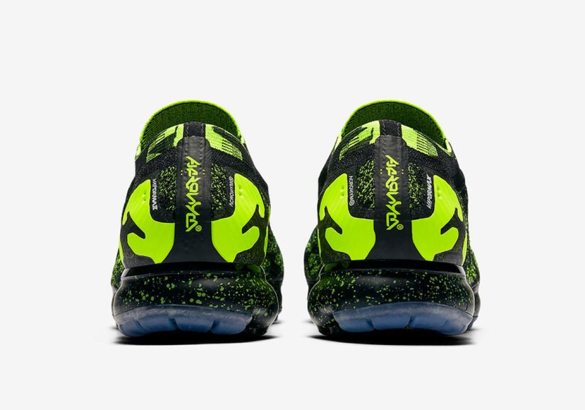 660dc945a6e44 ACRONYM x Nike Air VaporMax Moc Black Volt Release Date