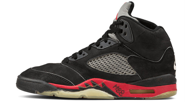 Air Jordan 5 Black/University Red