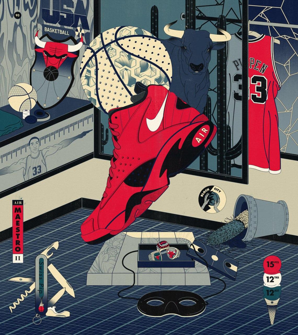 "big sale f0de5 5d870 ... 2018 Scottie Pippen s Nike Air Maestro II ""Trifecta"""