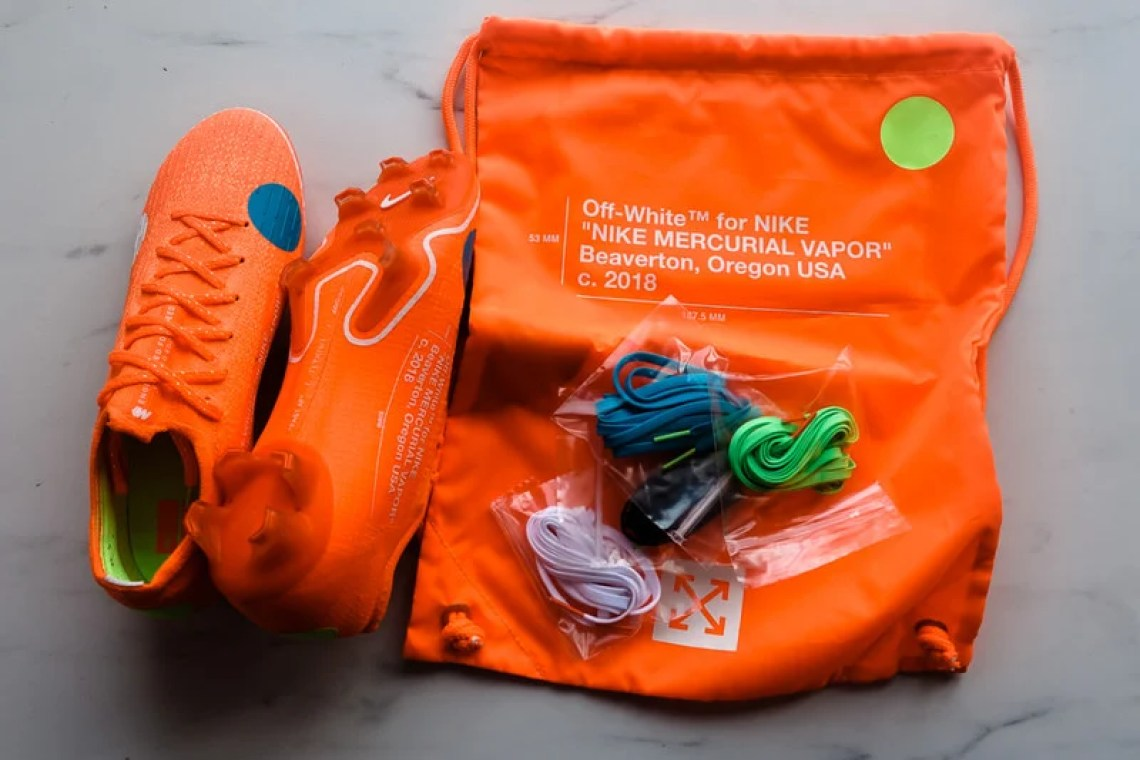 9826a966c8685 A Closer Look at the Off-White x Nike Mercurial Vapor 360 Cleats ...