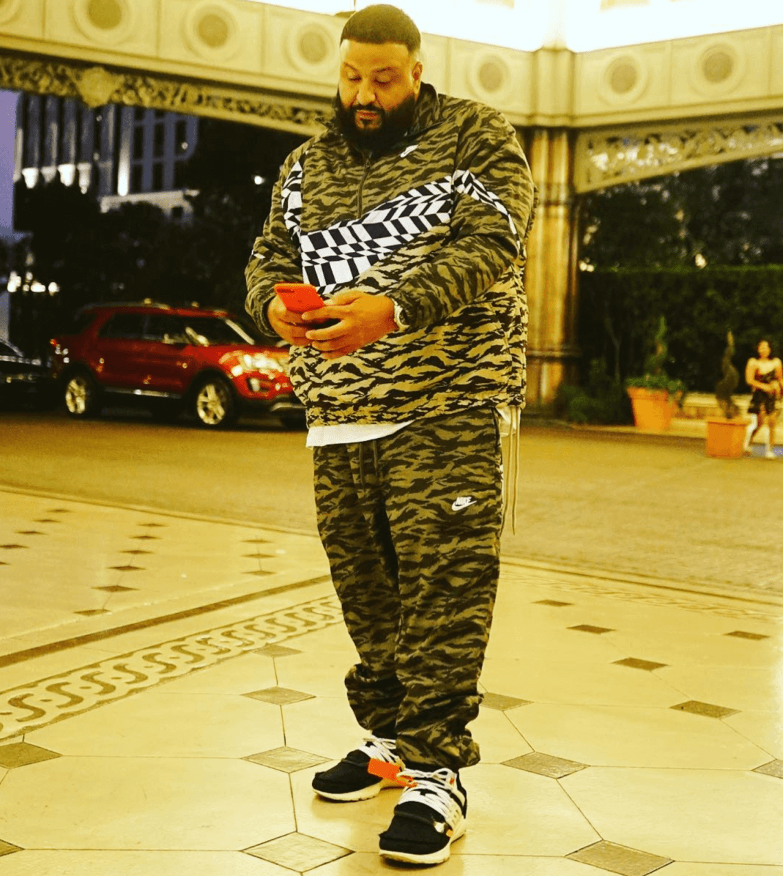 DJ Khaled in the Off White x Nike Air Presto