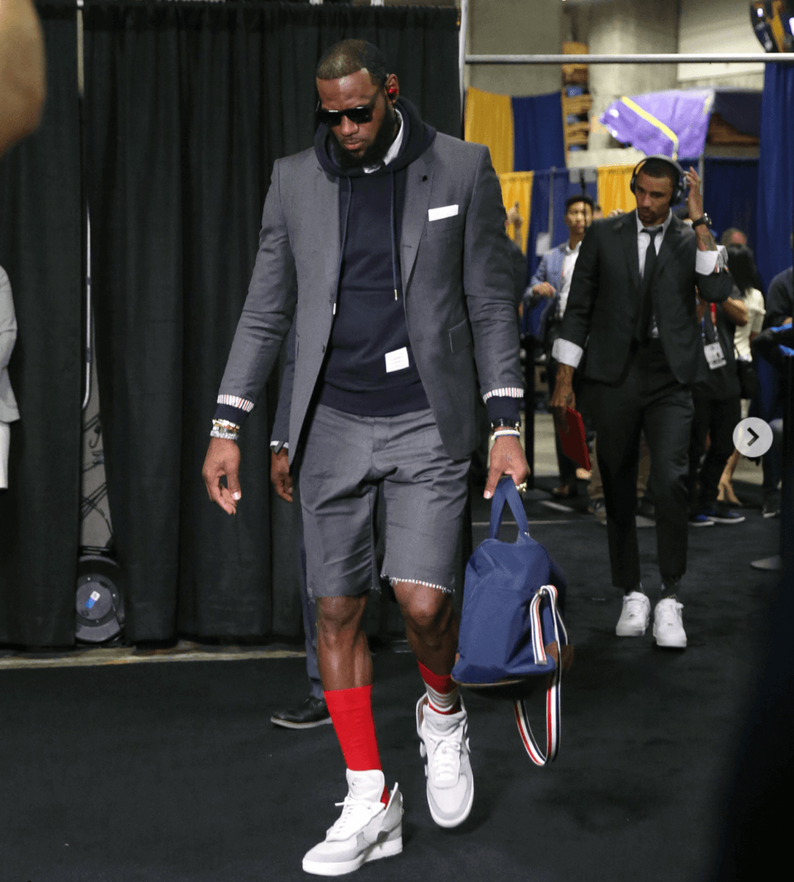 Lebron James in the John Elliot x Nike Air Force 1 High