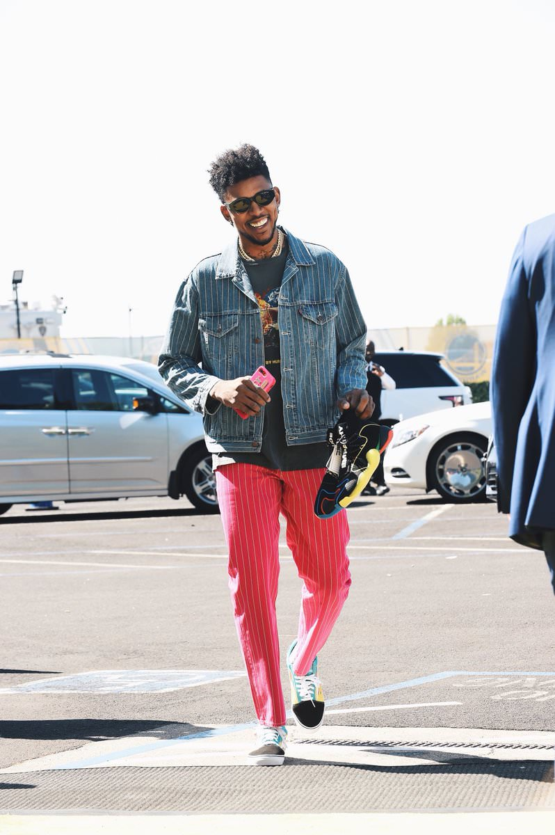 Nick Young in the Revenge Storms Sneakers