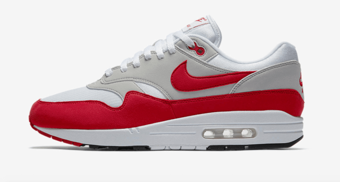 "Nike Air Max 1 Anniversary ""University Red"" is Restocking Next Month"
