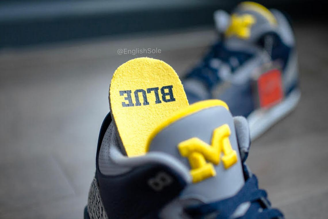 "Air Jordan 3 ""Michigan"" PE"