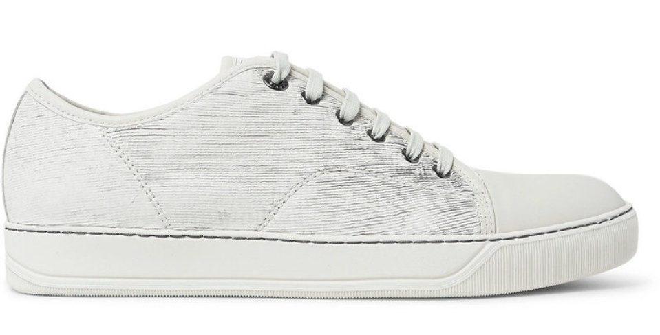 Lanvin Cap-Toe Nubuck Sneakers