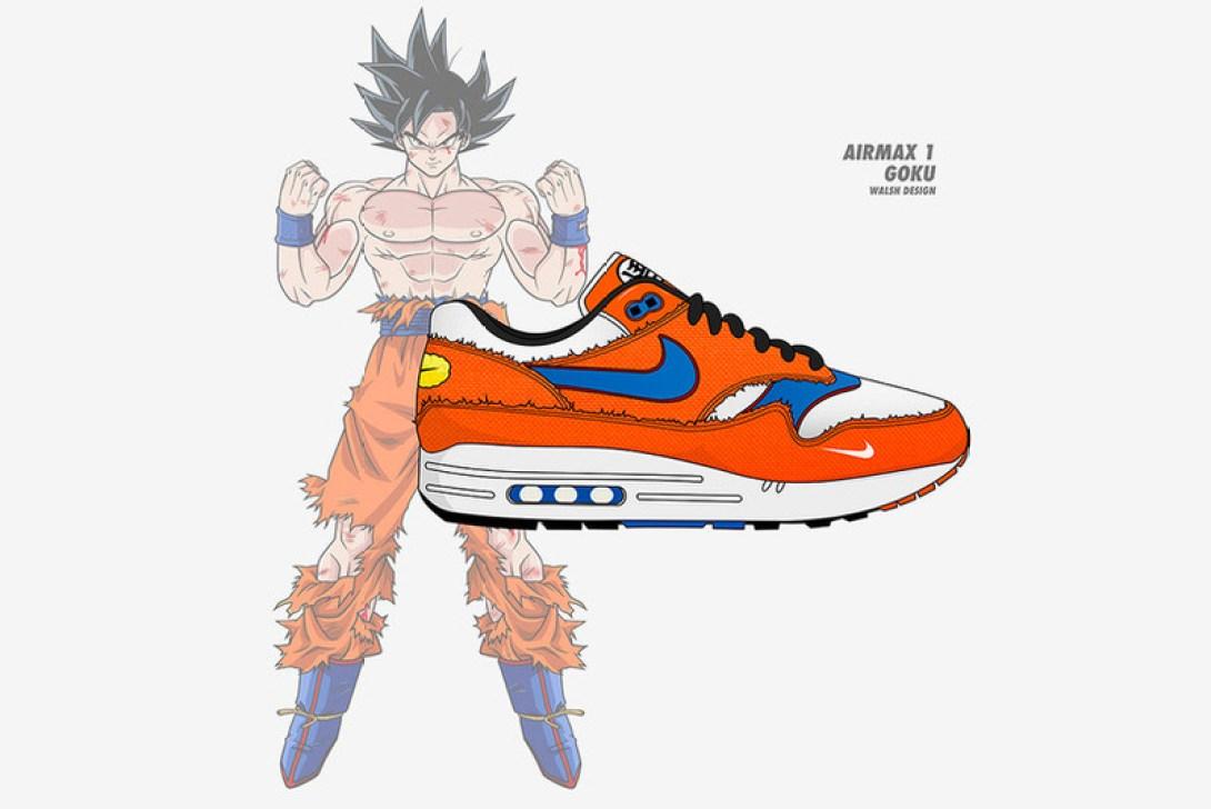 "hot sales 5e36d 42170 ... Custom Nike ""Goku"" Air Max 1"