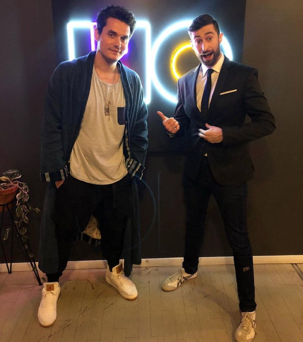 John Mayer in the Levis x Air Jordan 4