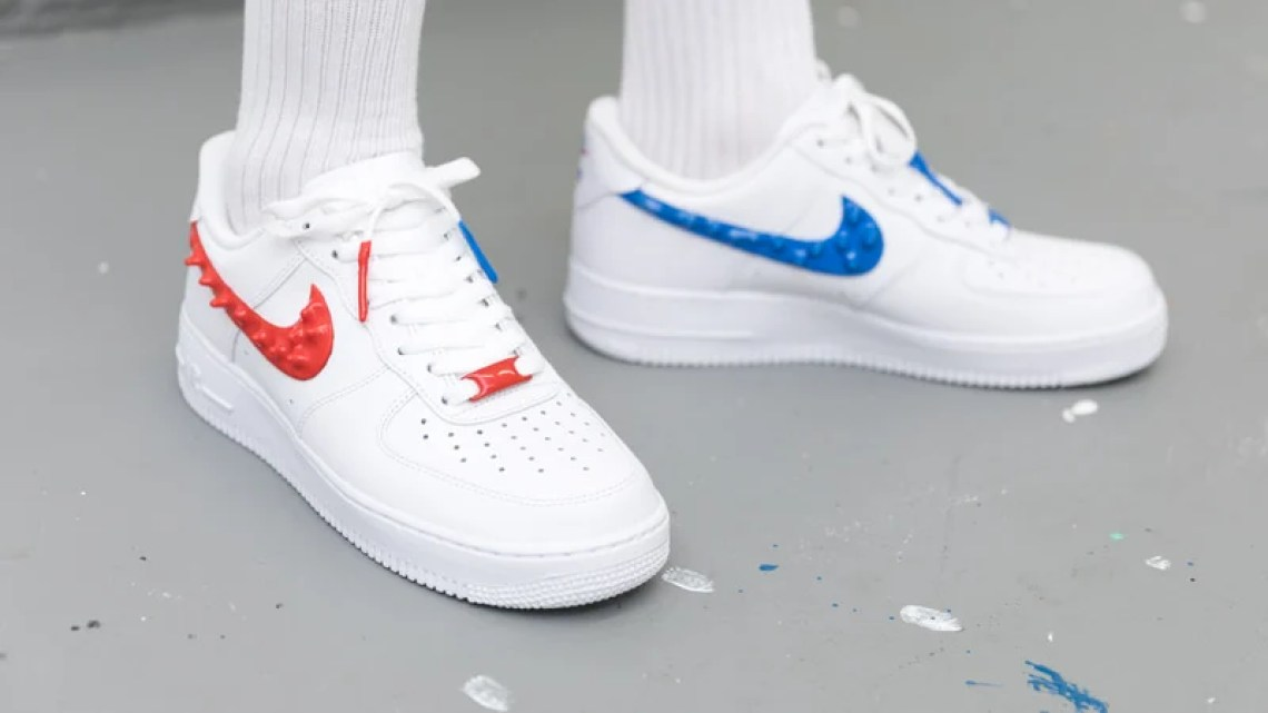 5aa96f71c06 Custom Nike Air Force 1 Drips with Rubber Branding