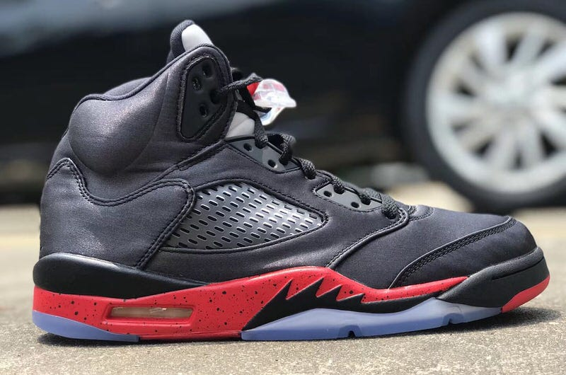 low priced 22d09 c67e5 ... spain air jordan 5 satin black red 38553 4f59a