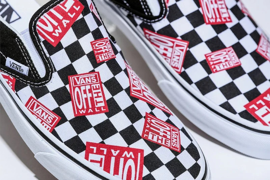 """BILLY'SVans Classic Slip-On """"Off The Wall Check"""""""