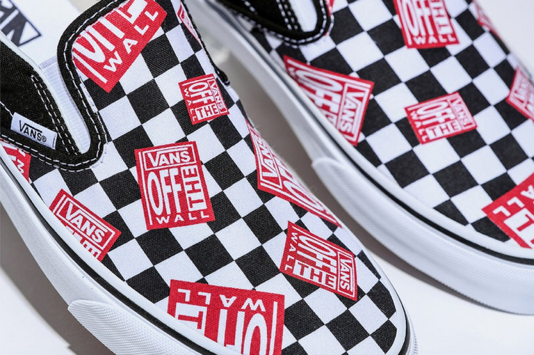 """BILLY S Vans Classic Slip-On """"Off The Wall Check"""" c435e3ecb"""
