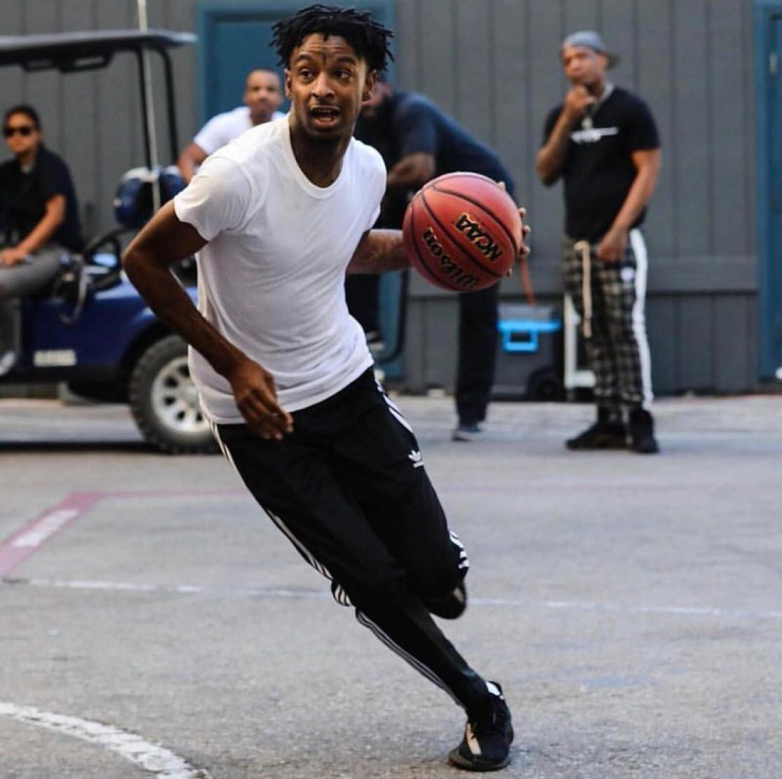"21 Savage in the adidas Yeezy Boost 350 V2 ""Copper"""