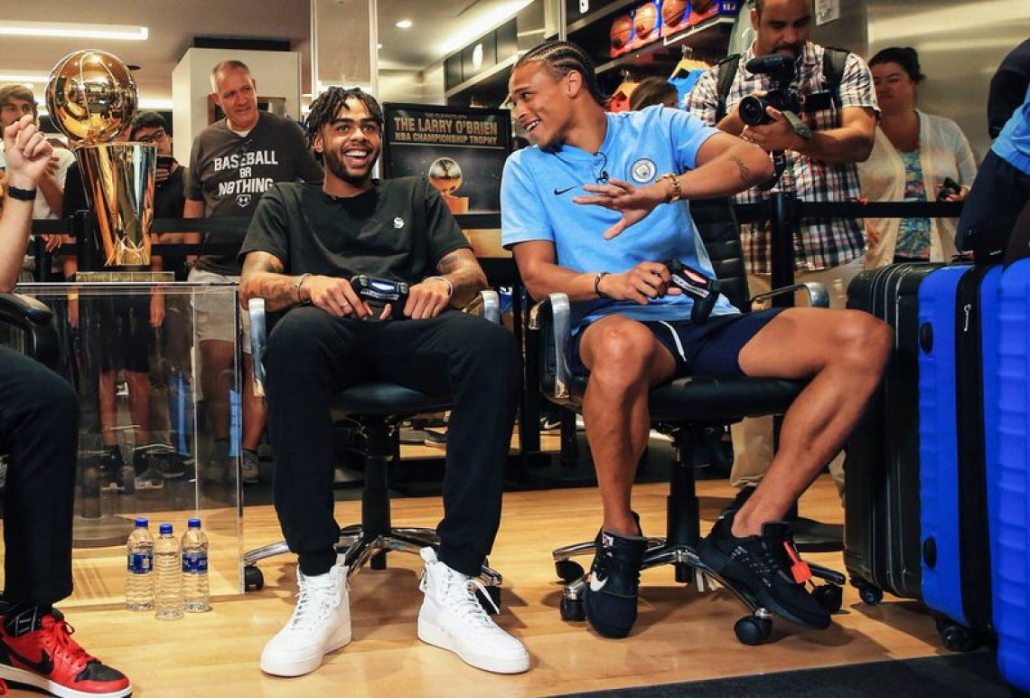 be3decac3e17 ... D Angelo Russell in the Nike SF-AF1   Leroy Sané in the Off