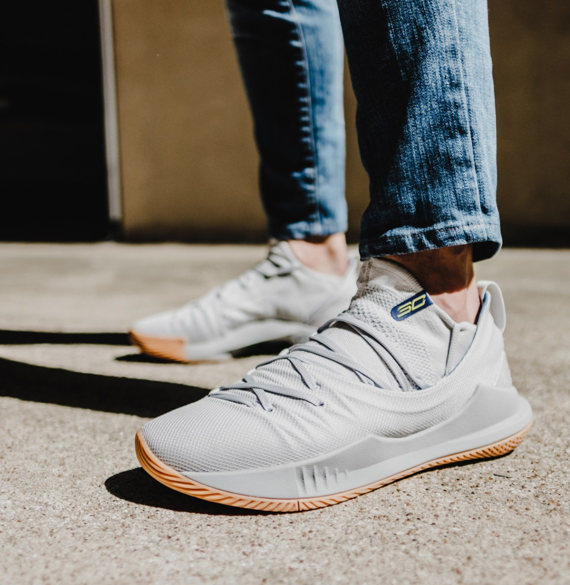 7565fb3176e1 The Grey   Gum Curry 5 seen below is available now on UA.com. Under Armour  Forge 96