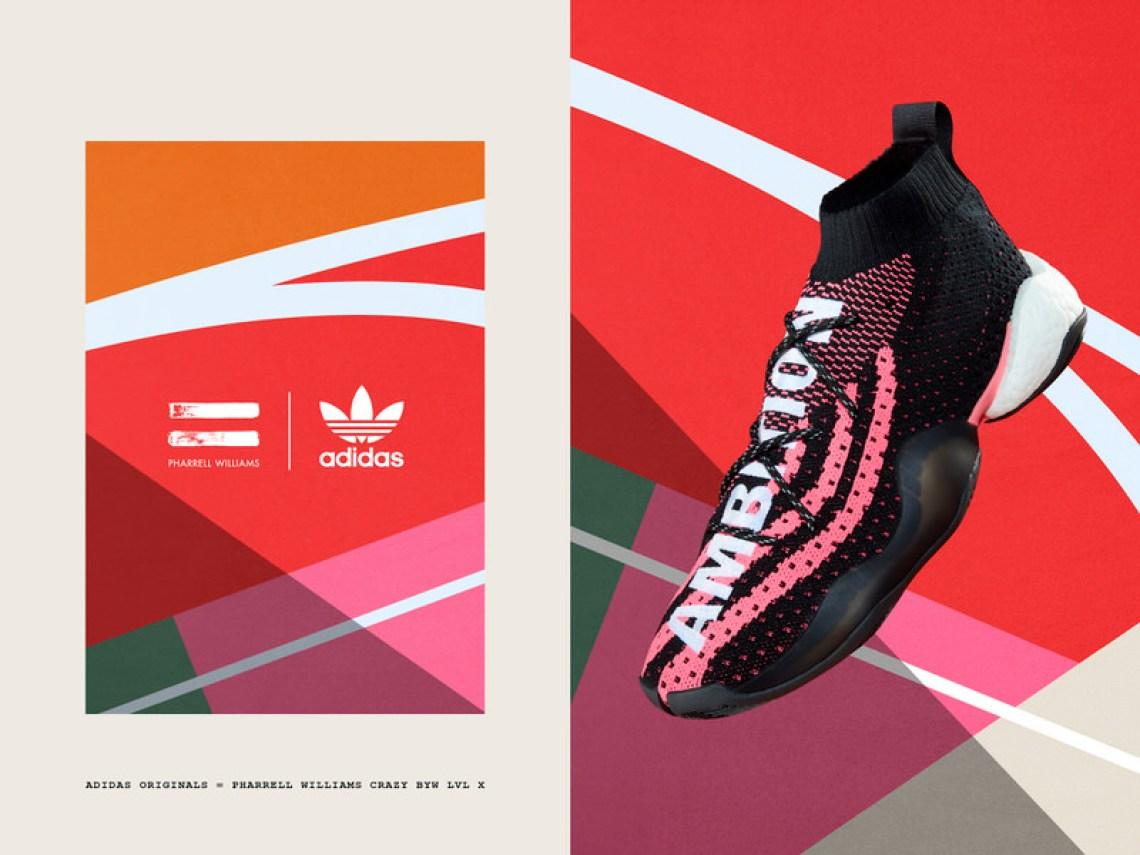 online retailer 85fda 1beae ... Pharrell x adidas Crazy BYW LVL X